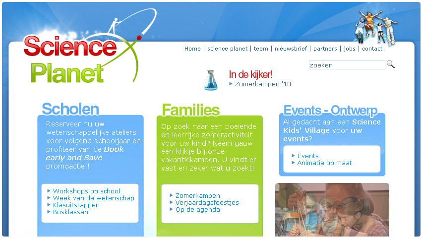 science planet Capsciences  web